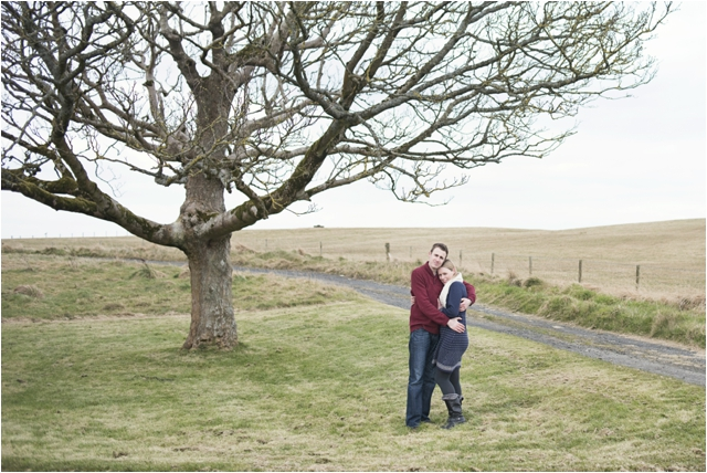 Northern Ireland Wedding Photography- Jenny & Chris' pre-wedding shoot at Mussenden Temple