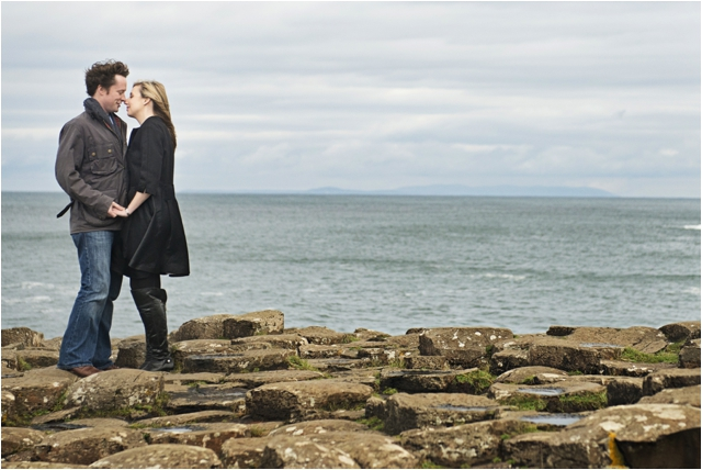 Giant's Causeway engagement photos-April and Conor