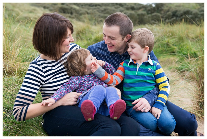 fun family photography on Portstewart Strand