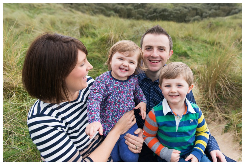 Beach family portraits Northern Ireland
