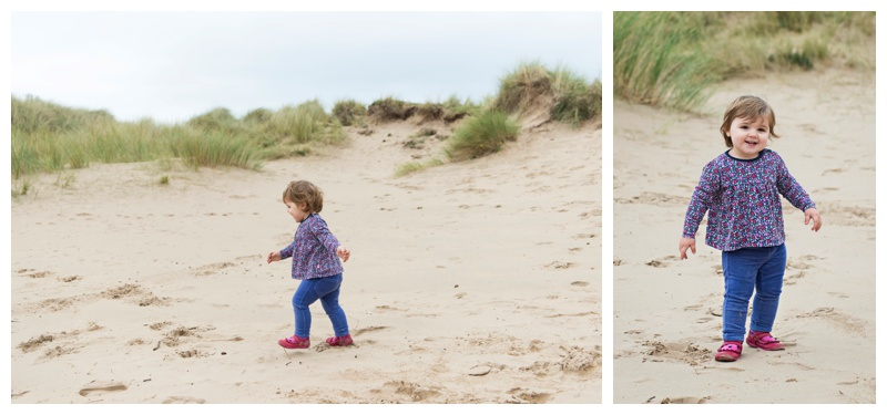 Toddler fun in the sand dunes