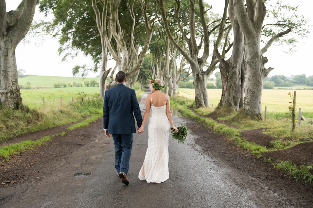 Dark Hedges elopement photography Northern Ireland