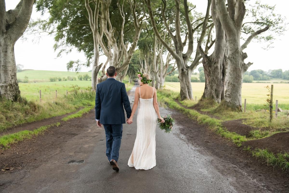 Dark Hedges elopement photography Northern Ireland