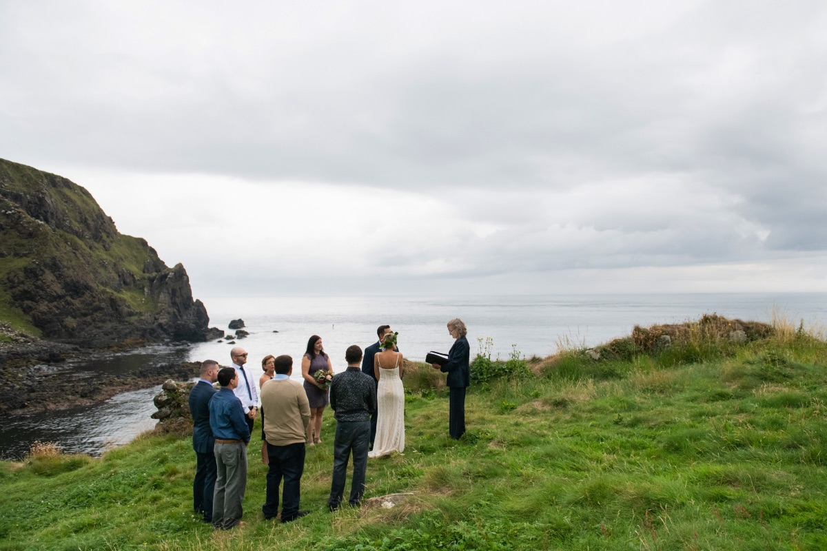 Outdoor wedding ceremony Northern Ireland